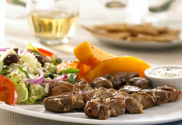 Chicken & Pork Souvlaki Diner